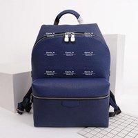 Echte Rucksäcke 2021 Student Classic für Männer Designer Mann Leder Doppel Umhängetasche PVC Design Handtasche Schule Rucksack Notebook 30230