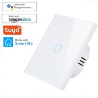 Wifi Wall Touch Sensor التبديل EU RF433 + WiFi الذكية ضوء التبديل 1 2 3 عصابة 220 فولت تيا المنزل الذكي الرئيسية دعم اليكسا جوجل المنزل