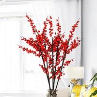 Planta artificial américa norte azevinho fruta espuma de natal vermelho baga abrin mikie fa cai guo chinês estilo decorativo flores flores grinaldas