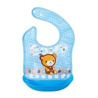 A prueba de agua Baberos de silicona Alimentación de silicona Bebé Saliva Toalla Newborn Dibujos animados Delantales Baby Bibs Abral ajustable Delantal Saliva Bandana 960 x2