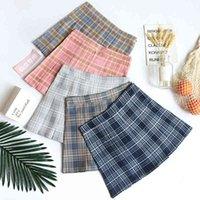 Beforw preppy japonês coreia curta saia alta cintura mini womens kawaii xadrez plissado tênis saia casual