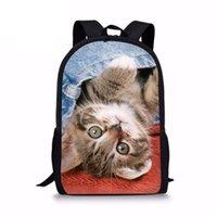Denim Cat Denim Cat Sac à dos pour adolescentes filles jolies Joli Junior Primaire Harness Enfants Sacs scolaires à rucksack