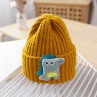 Cartoon Dinosaur Baby Winter Hat Cap Warm Knitted Baby Girl Boy Hat Beanie Elastic Kids Hat Children Cap Bonnet 1033 X2
