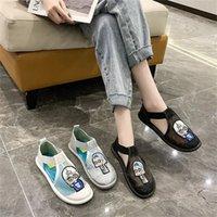 2021 Sandalias de verano Sandalias Malla Tendencia Zapatos de mujer Baotou Side Hollow Cool Casual Cómodo blanco