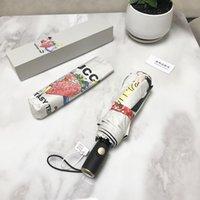 Diseñador de lujo paraguas de lluvia a prueba de viento a prueba de viento tuyo creativo plegable parasol moda impacto negro paraguas 726
