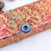 Fashion Turkey Girl Jewelry accessory O-Chain necklaces 18mm Blue Eye Pendant Necklace Length 55cm Birthday gift