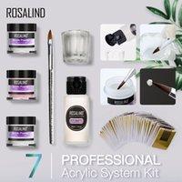 Nail Art Kits 3-Color Acrylic Powder Liquid Extension Kit Decoration Tools Manicure Set @ME88