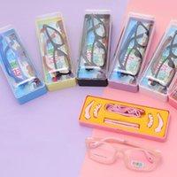 Optische kinderen bril frames TR90 flexibele kinderen siliconen baby vervangbare touw roze unisex mode zonnebril