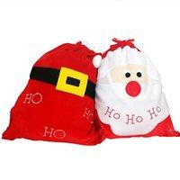 Decorações de Natal Santa Saco Saco de Presente Xmas Plus Size Bolsa De Pano Sacos Materiais 15 Pcs Livre DHL Navio HH21-593