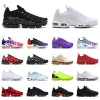 Airmax MAX PLUS off white TN BIG SIZE 13 women mens STOCK X running shoes High Quality trainers sneakers Pink Black Triple White Active runners shoes