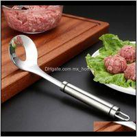 Spoons Convenient Meatball Maker Scoop Bola de Aço Inoxidável Colher DIY Pressionado Ferramentas de Carne De Cozinha Gadget H WMTVUX K99LJ ZTHZY