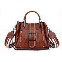 Bags Fashion Women's Bag 2021 Oil Skin Pliers Iron Handle Thick Thread Popular