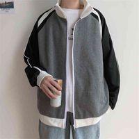 Net red coat men's brand ins Street ruffian handsome cardigan stand collar jacket sportswear Korean fashion versatile