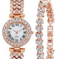 MULILAI marca 32 mm estilo de lujo relojes para mujer Diamante dial blanco elegante cuarzo reloj reloj rosa oro pulsera relojes de pulsera