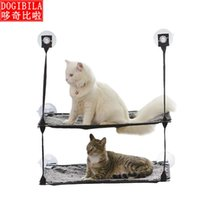 Cat Beds & Furniture Dog Pet Double Deck Hammock Nest Suction Cup Hanging Bed Removable And Washable Strong 25kg Cage
