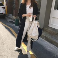 Casual Dresses Cardigan Chic Long Sleeve Shirt Dress Patchwork OL Turn Down Collar Buttons Loose Blue Brown Robe