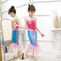 Girl's Dresses Baby Girls Clothes Kids Lace Mermaid Beach Long Party Princess Pettiskirt B5334