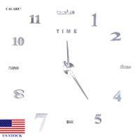 DIY 벽 시계 현대적인 큰 3D 블랙 번호 스티커 홈 오피스 장식 시계 H0020 미국 주식 빠른 배달
