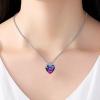 Pendant Necklaces Heart Shape Necklace For Women I Love You To The Moon And Baclk Gifts Mom Daughter Girlfriend