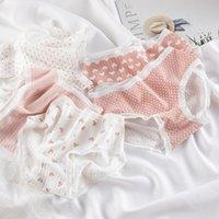 6pcs set Love Underpants Girl's Middle Waist Bag Hip Cotton Crotch Soft Underwear Children's Thread Triangle Pants Panties