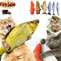 Cat Toys 2021 Wagging Fish Realistic Plush Simulation Grass Carp Doll Toy