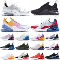 2021 Bred 270 Mens women Running Shoes Platinum Tint USA Triple Black white University Red Tiger olive Outdoor Sports Trainers Zapatos Sneakers 36-45