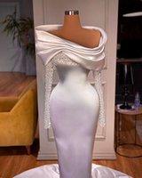 Other Wedding Dresses Elegant Pearl Long Sleeves Beaded Mermaid Civil Bridal Gowns For Women Robe De Soirée Mariage