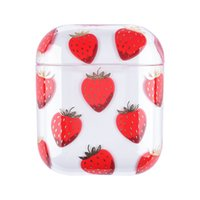 Fruit Strawberry Pattern Case for Airpods 1 2 Soft Silicone Flexible Cases Cover Cute Shockproof Earphone protector 97223