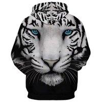 Felpe con cappuccio da uomo Fashion Designer 3D Uomo Digital Stampa digitale Tigre Tiger Testa e felpe a manica lunga con cappuccio Piano perfetto per jeans e pantaloni