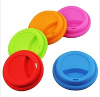 Silicone Cup Lids 9cm Anti Dust Spill Proof Food Grade Silicone-Cup Lid Coffee Mug Milk Tea Cups Cover
