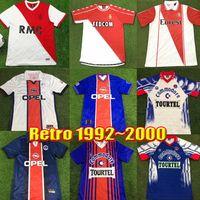 Monaco Jersey Olarak Retro 01 02 03 98 99 Ronaldinho Futbol Formaları Heinze 90 92 Okocha Leroy Beckham Ibrahimovic Vintage Klasik 93 94 95 96 Futbol Gömlek Erkekler Kiti Üniforma