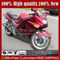 OEM Body for Kawasaki Ninja ZZR 1100 CC ZX11 R ZX-1100 ZX-11 R ZZR1100 ZX-11R PEARL RED 31HC.47 ZX11R 96 97 98 99 00 01 ZX 11 R 11R 1990 1991 1992 1993 1993 1994 1995 Fairing Kit
