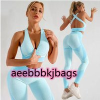 Tracksuits Fashion Seamless Designer Womens Tracksuit Yoga Suit Gym Leggings active Fitness Sports wear outdoor set 2PCS bra outfits Indoor sport streetwear sets