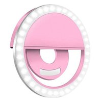 Rechargeable Self LED Ring Light Flash Heads Beauty Mini Fill Lights Night Clip for Smartphone Mobile Phone Lens