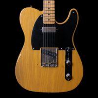 Rare 1952 Maple Natural Tele Butterscotch Blonde Electric Guitar Brass Saddle Bridge, Black Pickguard, Vintage Tuners, Rosewood Fingerboard, Chrome Hardware