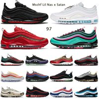 air max 97 mens running shoes Mschf Lil Nas x Satan 97s Triple Black White Red Leopard Reflective Bred men women trainer outdoor sneakers