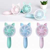 Electric Fans Mini Handheld Personal Fan Rechargeable Battery Powered Portable Adjustable Table USB Travel Cooler 1200mAh With 3 Speed