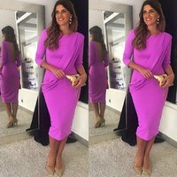 Aso Ebi Mermaid Prom Dresses Sexy Backless Tea Length Trumpet Cocktail Women Evening Gowns with 3 4 Long Sleeves
