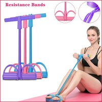 Resistance Bands Tension Rope Fitness Exercises Elastics Tape Home 4 Tube Elastic Pedal Ankle Puller