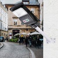 30W 60LED Solar Outdoor Street Light (Light Control Radar Built-in Sensor) with Remote Control Black Shell ZC001133
