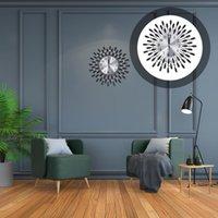 Wall Clocks Art Metal Diamonds Clock Modern Silent Hanging Decor For Living Room Bedroom Office