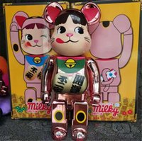 New style 400% 28CM Bearbrick The ABS The cow sister of Plutus cat Fashion bear Chiaki figures Toy For Collectors Be@rbrick Art Work model d