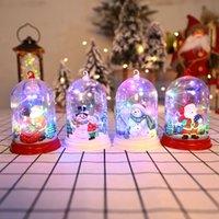 Choinka Wisiorek Dekoracja Światło Święty Mikołaj Snowman Reindeer Elf Dekoracje Desktopowe Xmas Prezenty 10 sztuk Darmowy DHL HH21-644