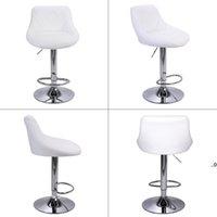 현대 바 의자 높은 도구 유형 조정 가능한 의자 디스크 마름모 등받이 디자인 다이닝 카운터 펍 의자 화이트 Seaway FWF9404