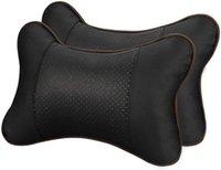 Kissen 1 Stück PU-Tuch Ausgezeichnete Haltbarkeit Autosicherheit Auto Kopfstütze Atme Sitz Kopf Nackenstütze Universal Fit für alle Fahrzeuge