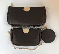 Bolsa 3 peças Satchel Ombro Bolsas Carteira 48237633 Moeda Bolsa Mensageiro Pequeno Postman Bag Mulheres Luxurys Designers Sacos 2021 3Size