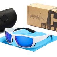 TUNA Alley 2021 Nueva marca Gafas de sol deportivas Hombres HD HD Pollarizadas Gafas solarizadas TR90 Marco cuadrado Reflejo Revestimiento Lente UV400