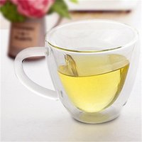 Taza de café Vidrio Nuevo estilo Doble amurallado Calor resistente al calor Tumbuce de café espresso Taza de té Tazas 585 R2