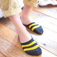 10pcs=5pairs Men's Socks Cotton Striped Boat Socks Summer New Male Harajuku Non-slip Silicone Breathable Men Ankle Sock Meias