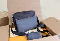 트리오 3pcs 메신저 가방 M69443 Eclipse Reverse 캔버스 캔버스 남성 크로스 바디 가방 3 조각 세트 가죽 망 지갑 지갑 클러치가있는 어깨 가방